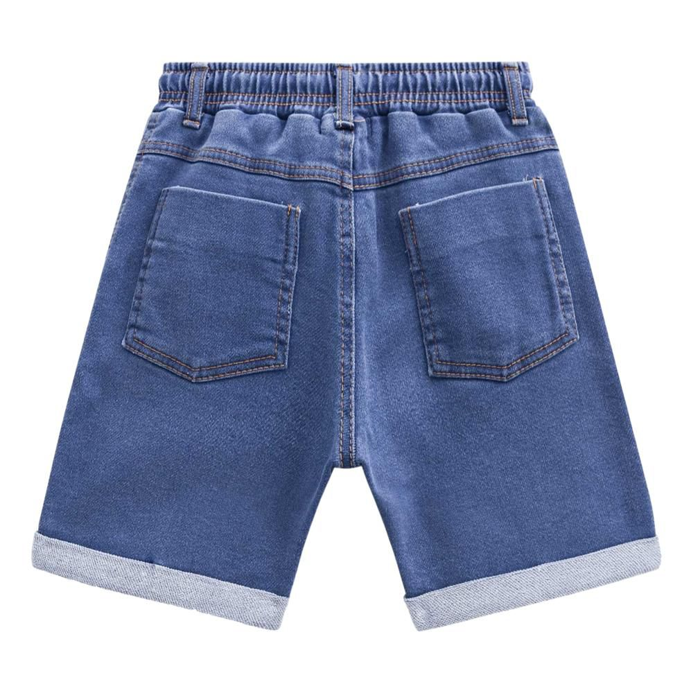 Bermuda Infantil de Malha Jeans com Elastano