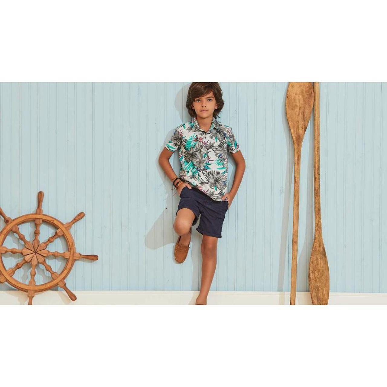 Bermuda Infantil Sarja Azul Marinho