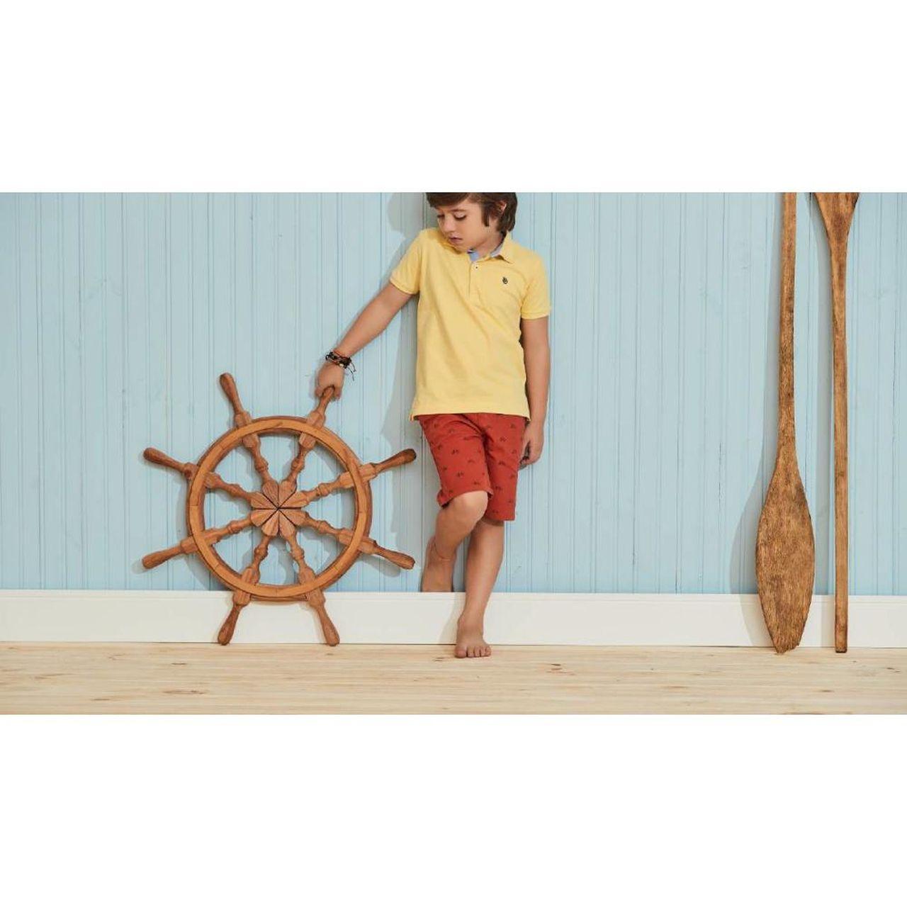 Bermuda Infantil Sarja Vermelha