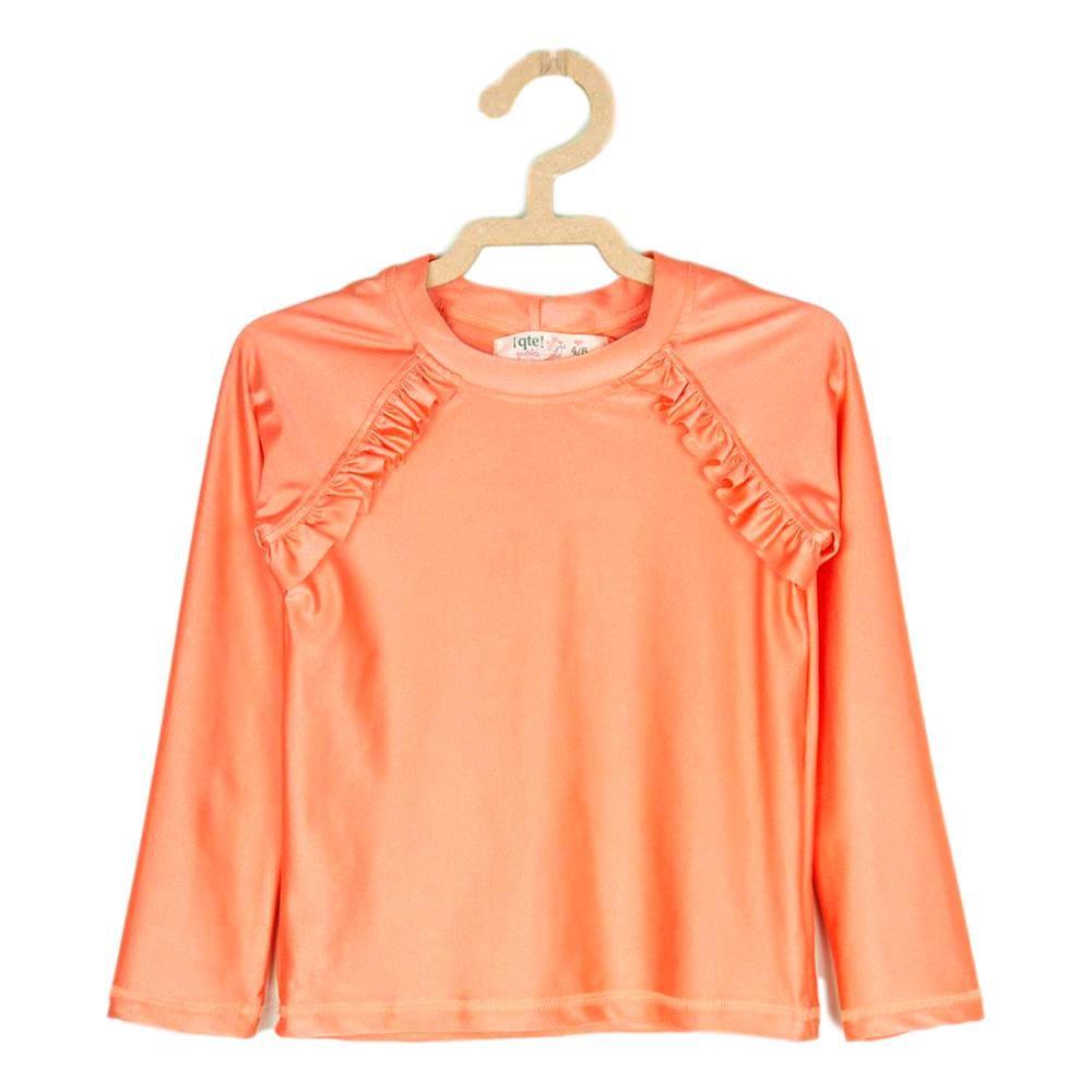 Blusa Infantil Proteção Solar Feminina Coral UV80