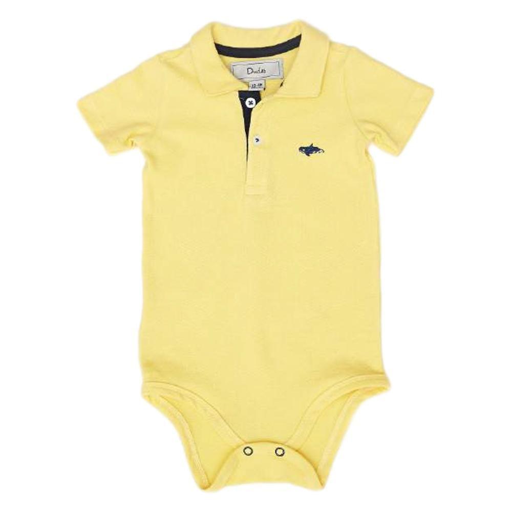 Body Polo Baby Pique Amarelo