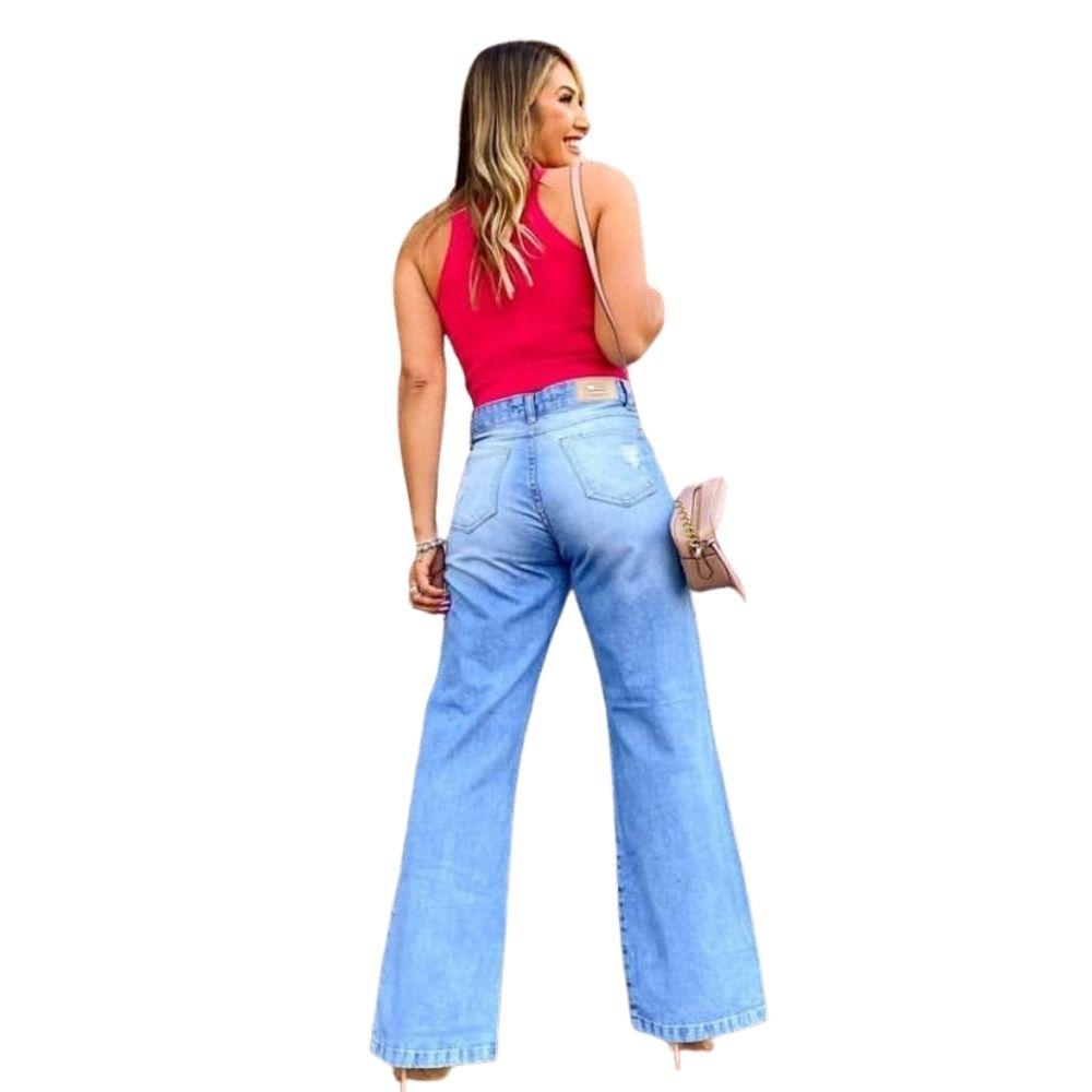 Calça Jeans Feminina Wide Leg