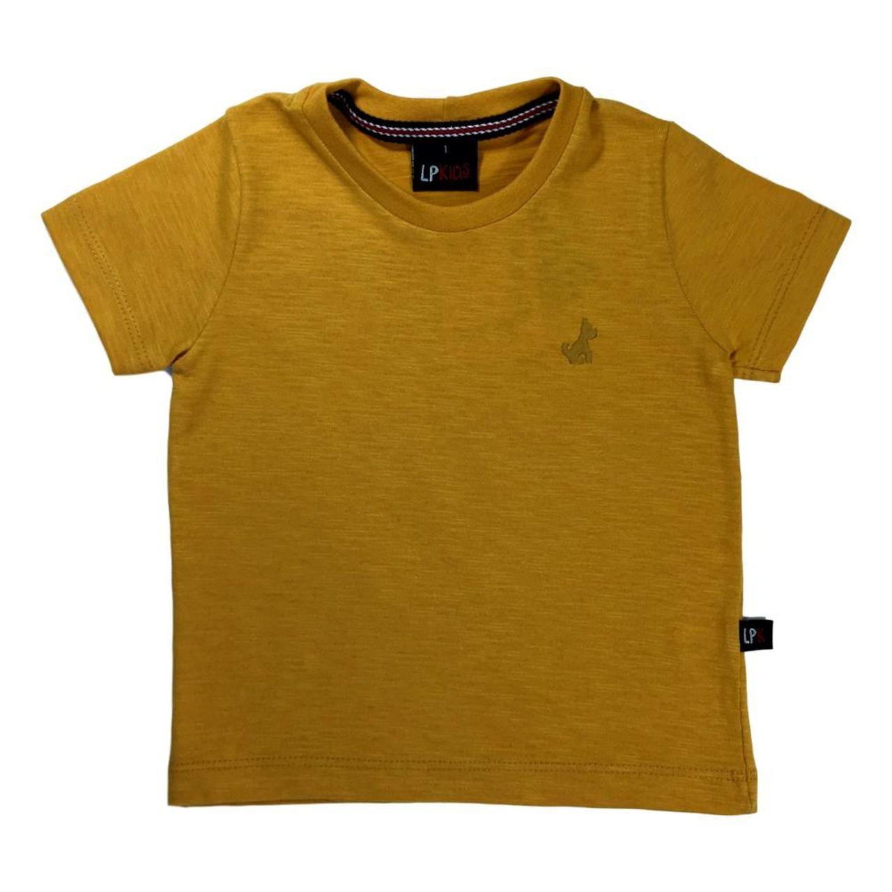 Camiseta Infantil meia malha- Mostarda LP Kids