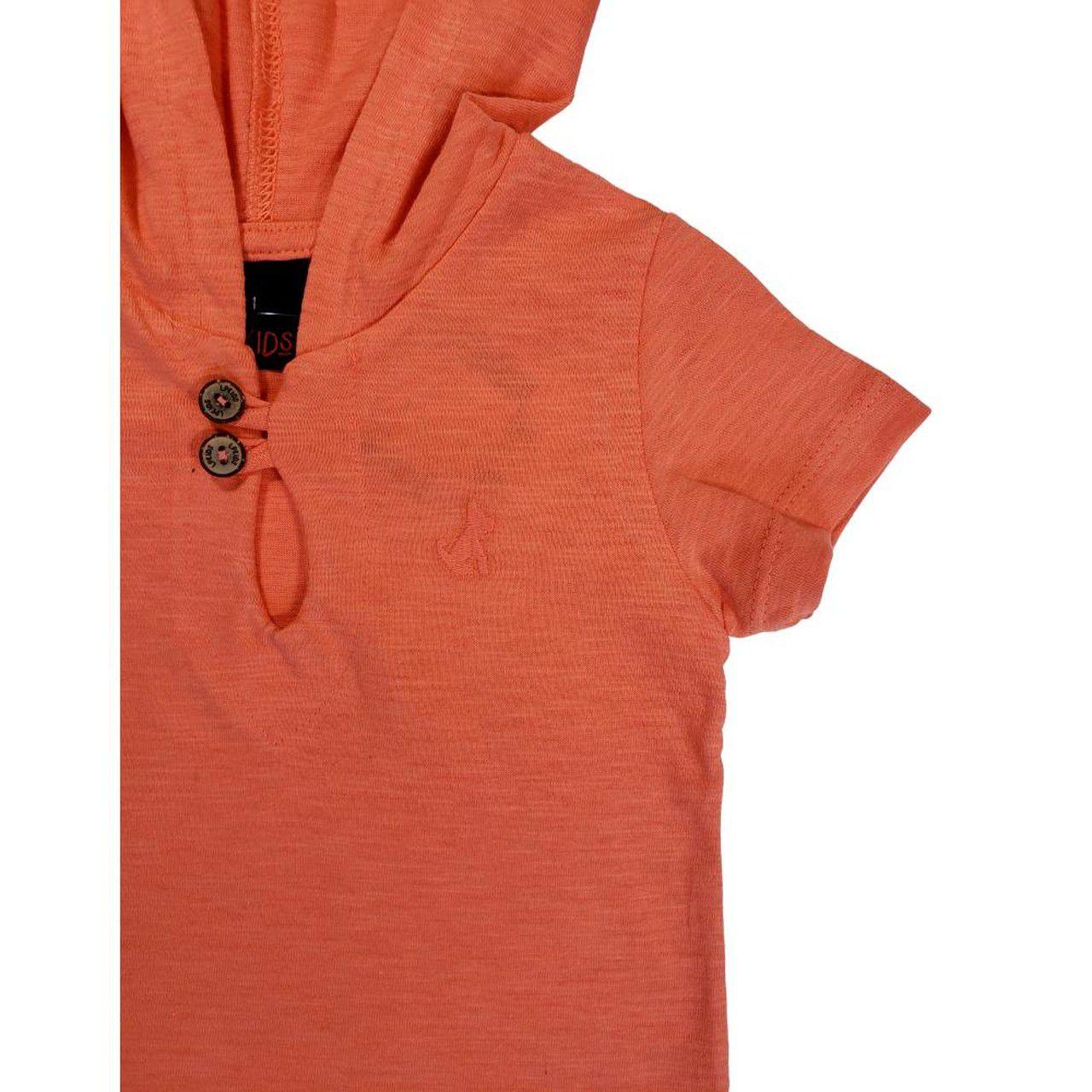 Camiseta Infantil Menino com Capuz Flamê