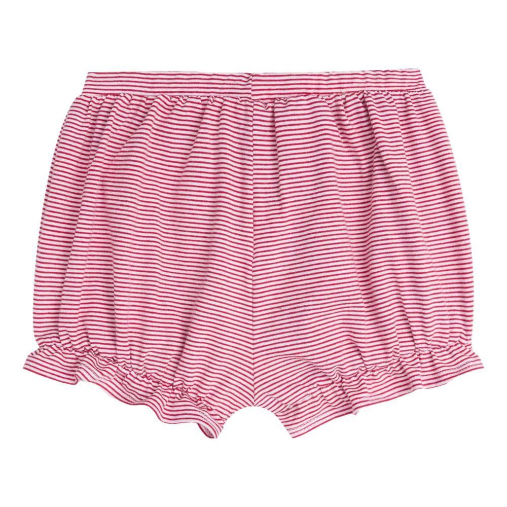 Conjunto Bata de Bolinha e Shorts Listrado com Faixa