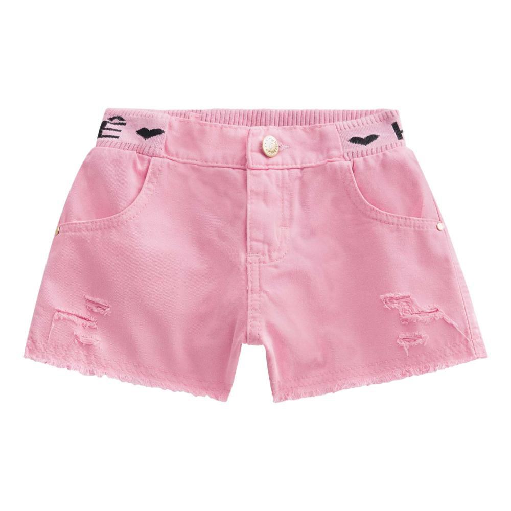 Conjunto Blusa Boxy e Short em Sarja Rosa