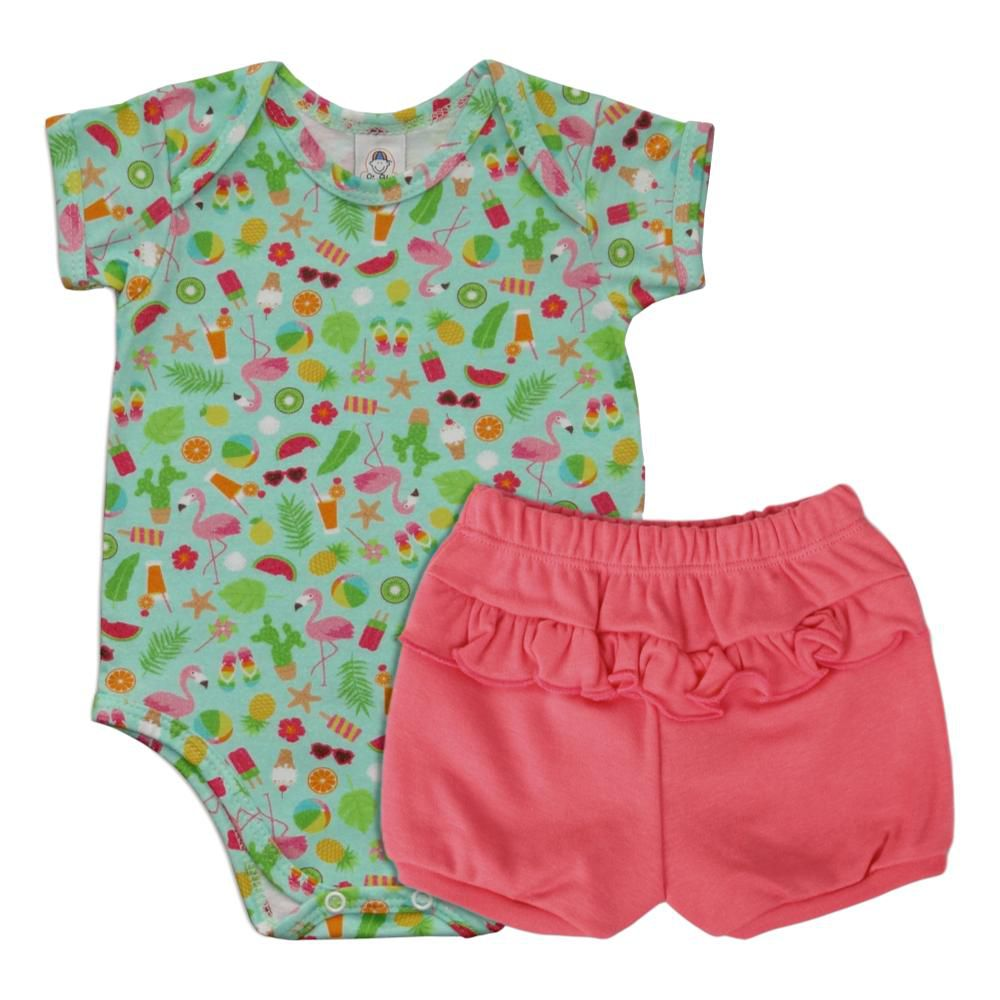 Conjunto Body Flamingos