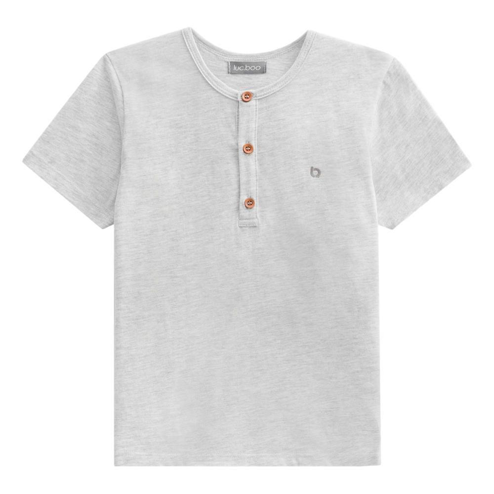 Conjunto Camiseta Mescla e Bermuda Azul Marinho