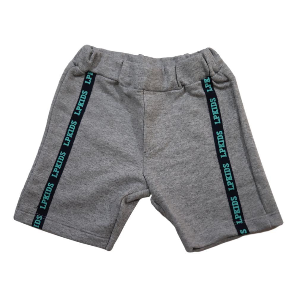 Conjunto Infantil Menino Camiseta e Bermuda Moletom com Cadarço