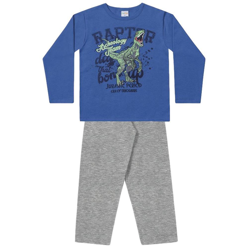 Conjunto Moletom Infantil Azul e Mescla