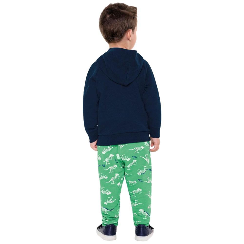 Conjunto Moletom Infantil Azul Marinho e Verde