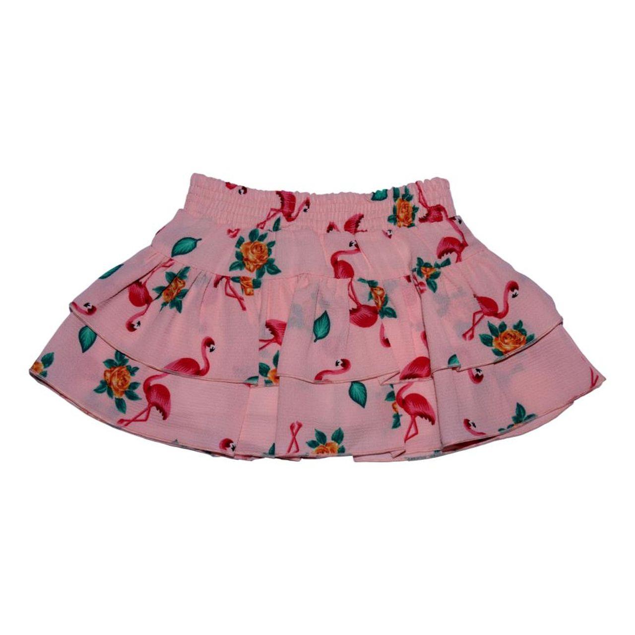 Conjunto Saia Shorts Flamingo