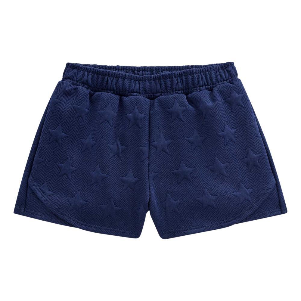 Conjunto Shorts em Jacquard Azul Marinho