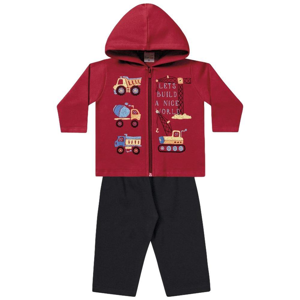 Kit Conjunto de Moletom Bebê Masculino- 2 Conjuntos