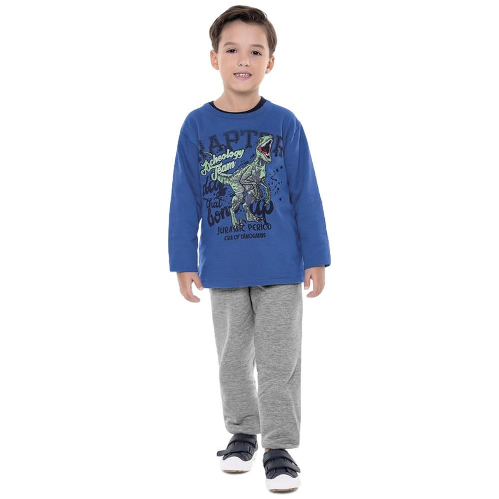 Kit Conjunto de Moletom Infantil Masculino- 2 Conjuntos