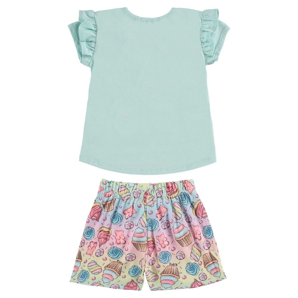 Pijama Infantil Blusa e Shorts Sonhos Doces