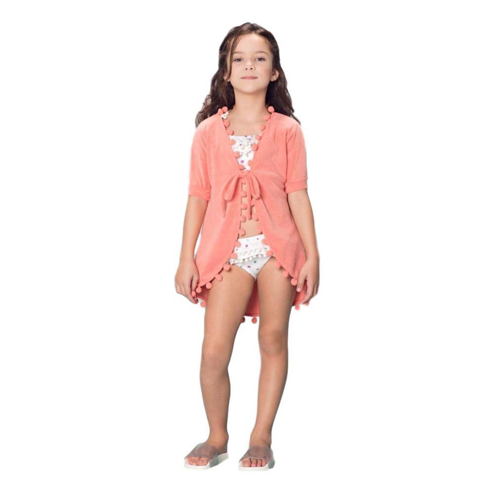Saída Praia Infantil Feminina Coral Atoalhada