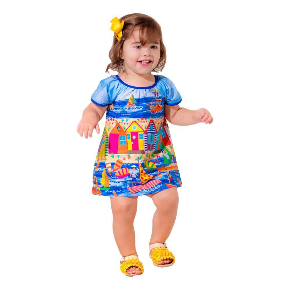 Vestido Bebê  Batinha Barrado Porto