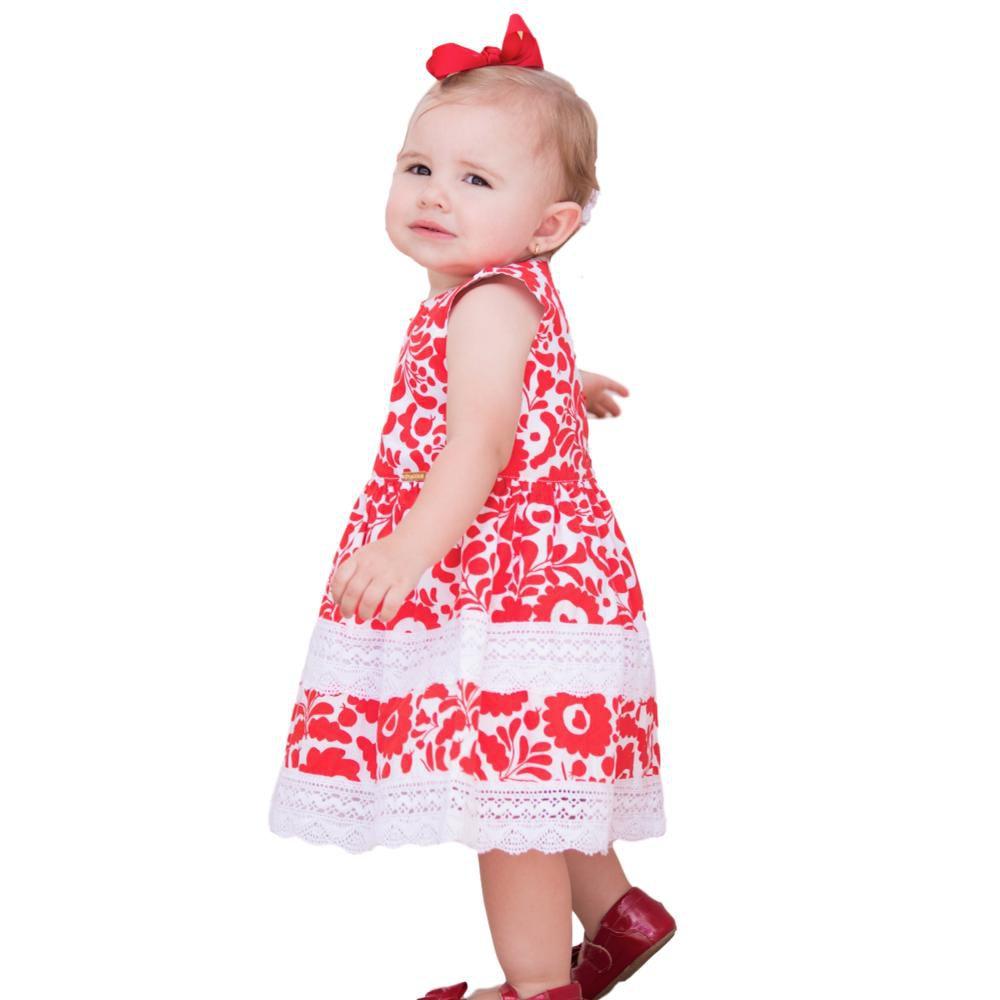 Vestido Bebê com Flores
