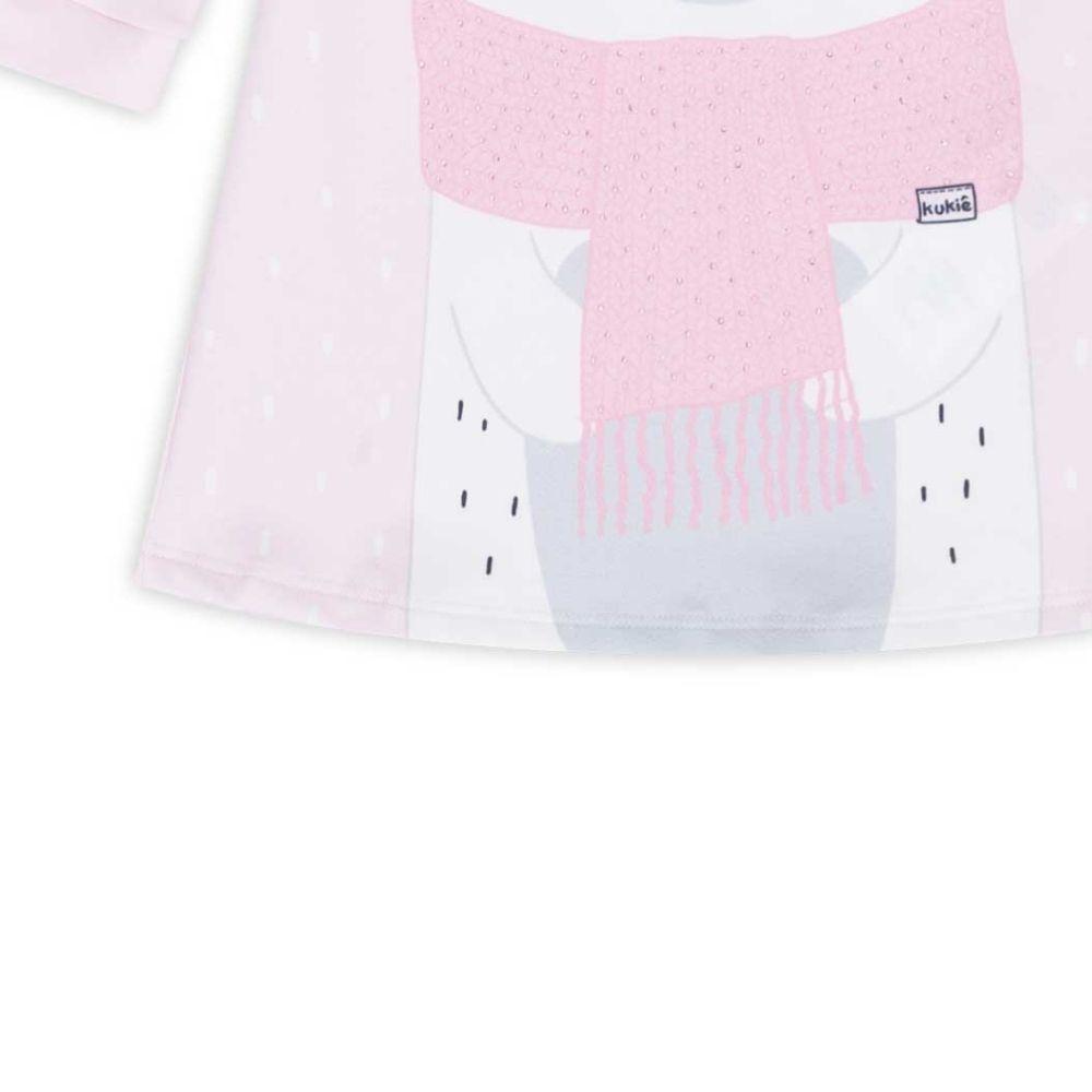 Vestido Bebê Infantil Ursinho Feliz