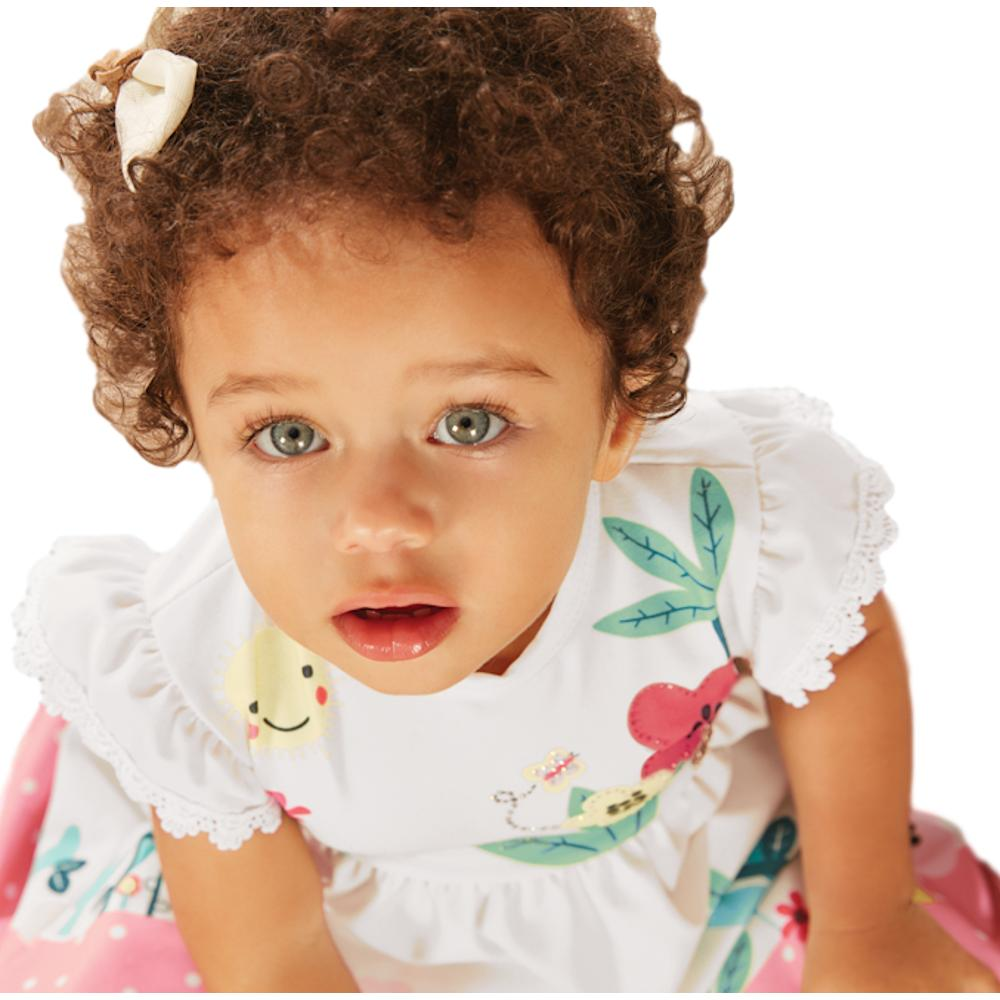 Vestido Bebê Jardim Encantado
