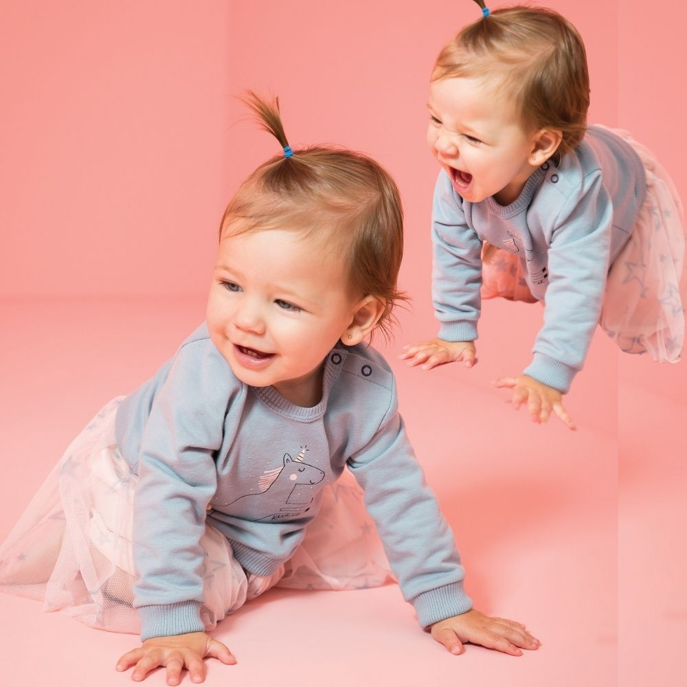 Vestido Bebê Manga Longa Linda Estrelinha