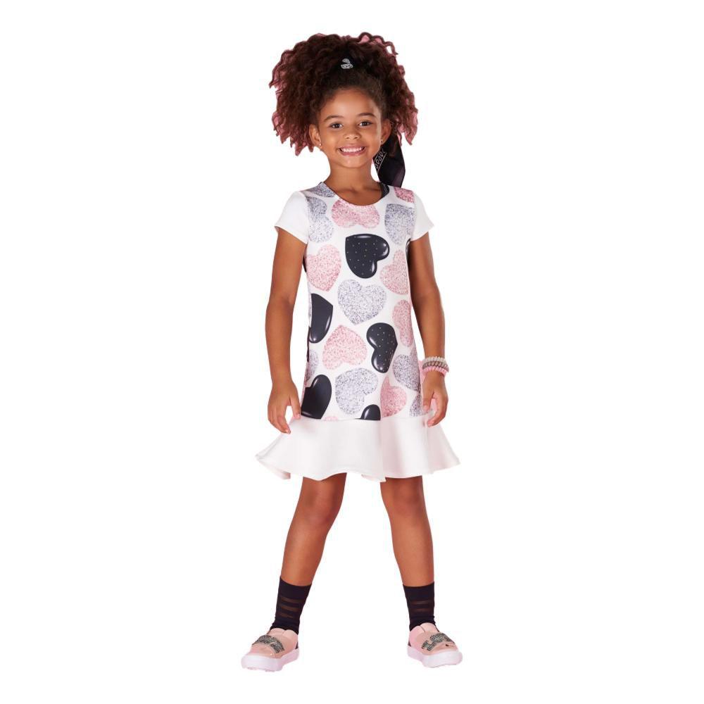 Vestido  Infantil Kukie Corações