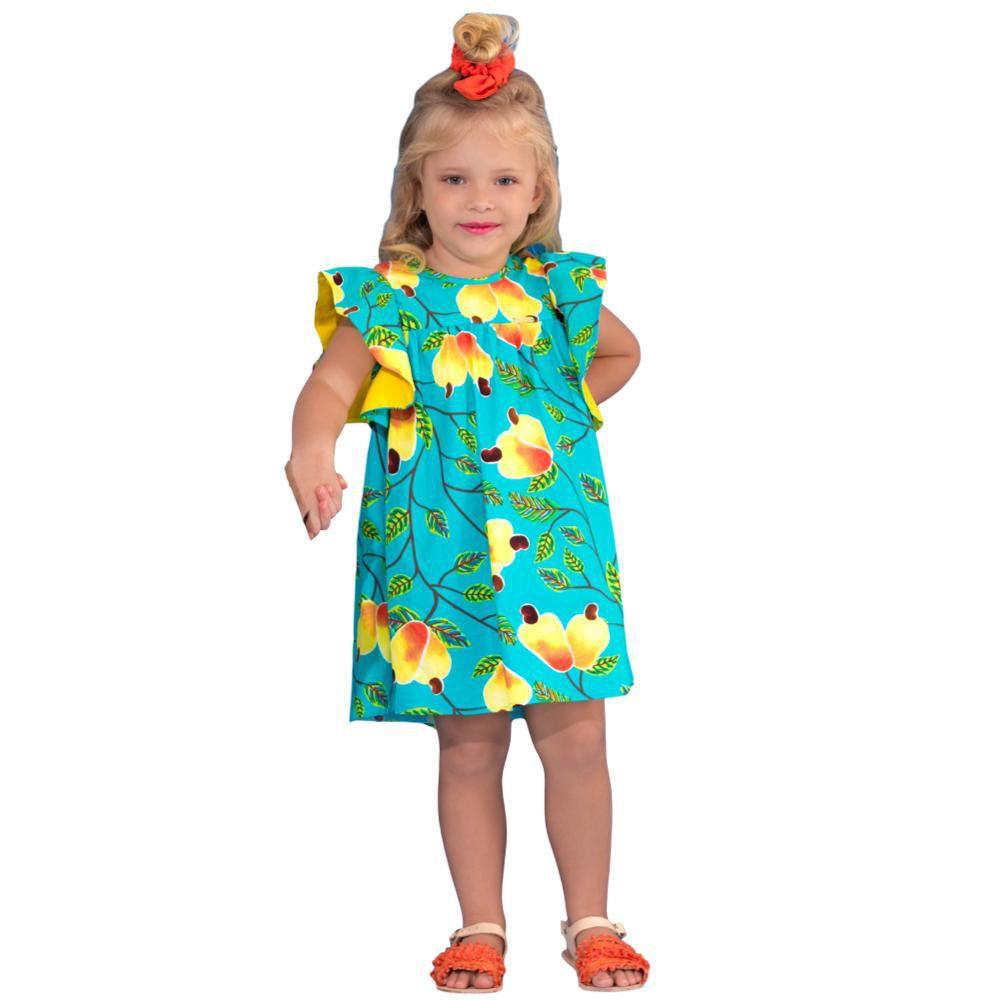 Vestido Infantil Caju