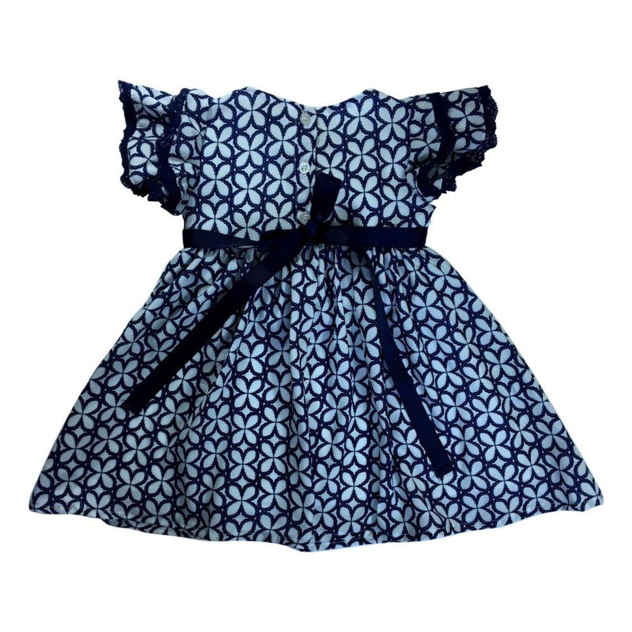 Vestido Infantil Estampado com Cinto Le Petit Enfant