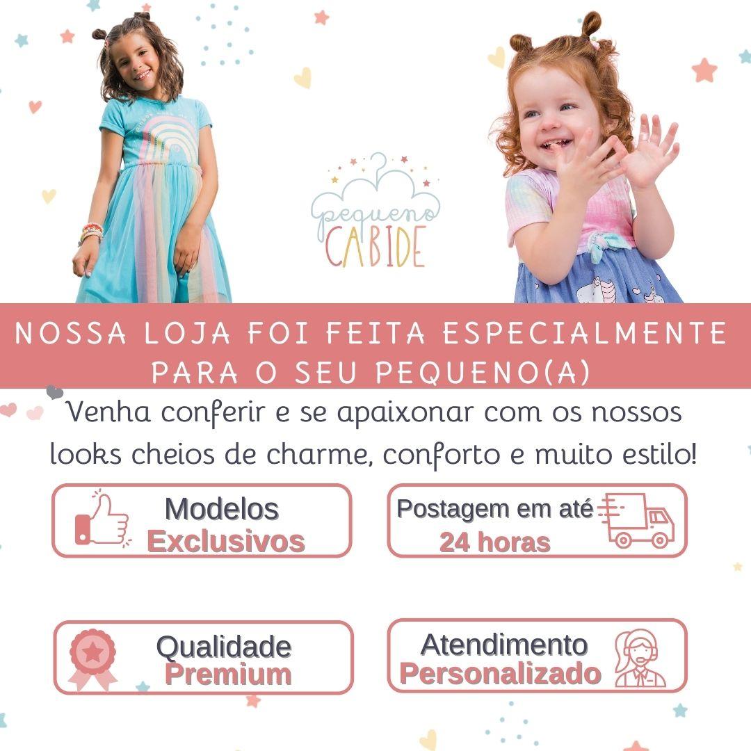 Vestido Infantil Gatinha Rosa Cute