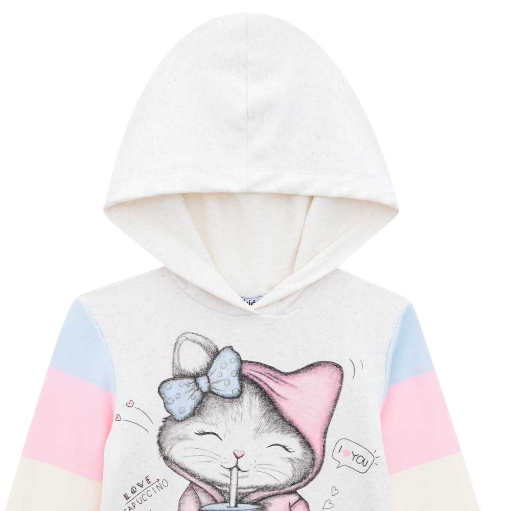 Vestido Infantil Manga Longa Cats I love You