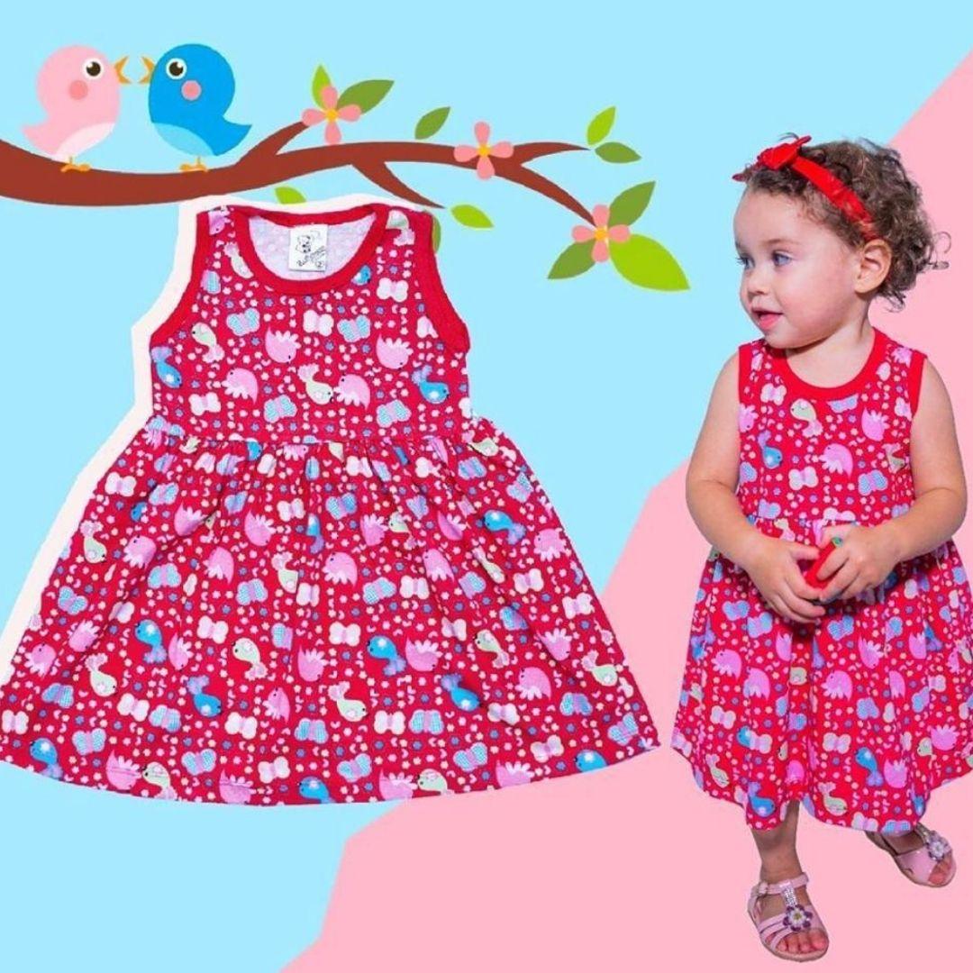 Vestido Infantil Menina Fresquinho Verão Estampas Variadas