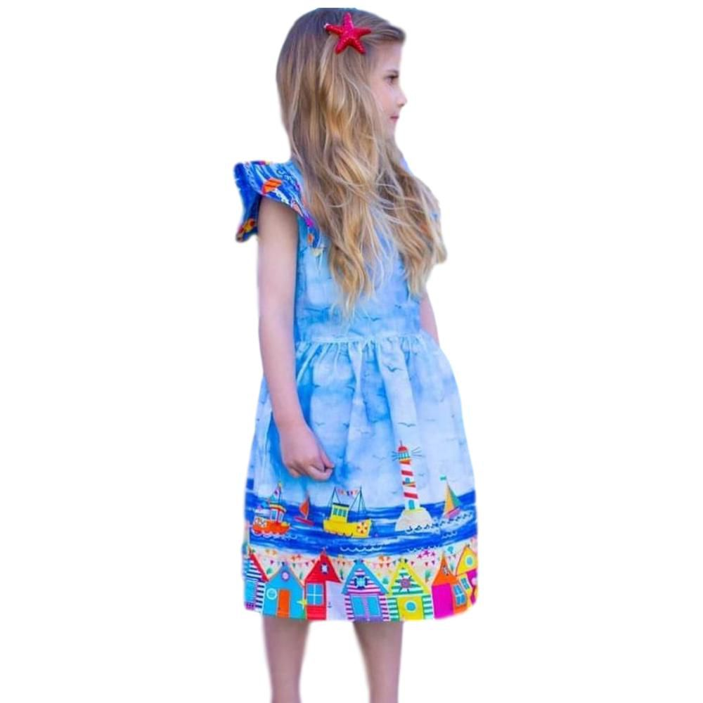 Vestido Infantil Porto Barrado