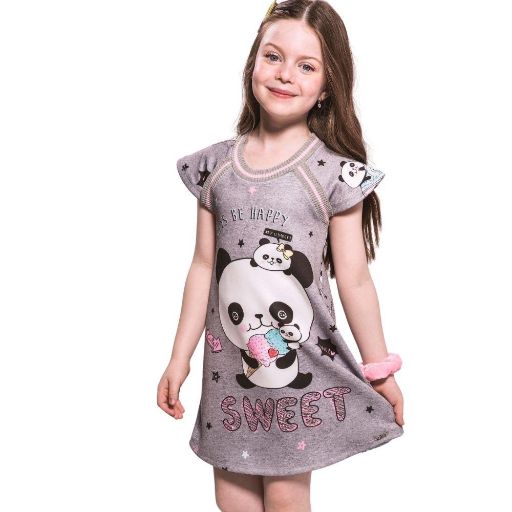 Vestido Infantil Seja Sempre Feliz