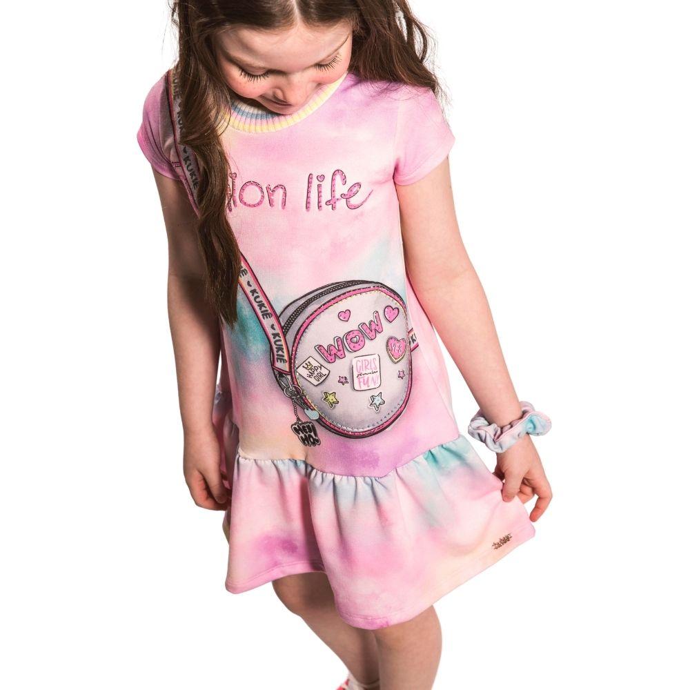 Vestido Infantil Tie Dye Fashion Life