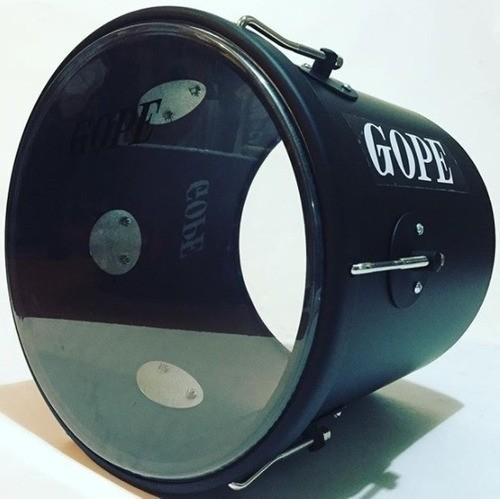 Repique De Mão Gope 11pol. 30cm Preto Black Pele Cristal