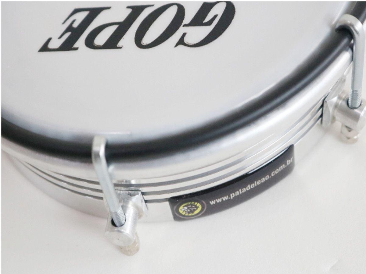 Tamborim Gope  Aluminio Frisado 6pol