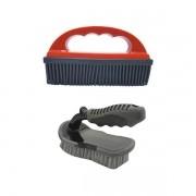 Escova Cerdas Duras P/ Estofados + Escova De Silicone Remoção de Pelos - Mandala+Detailer