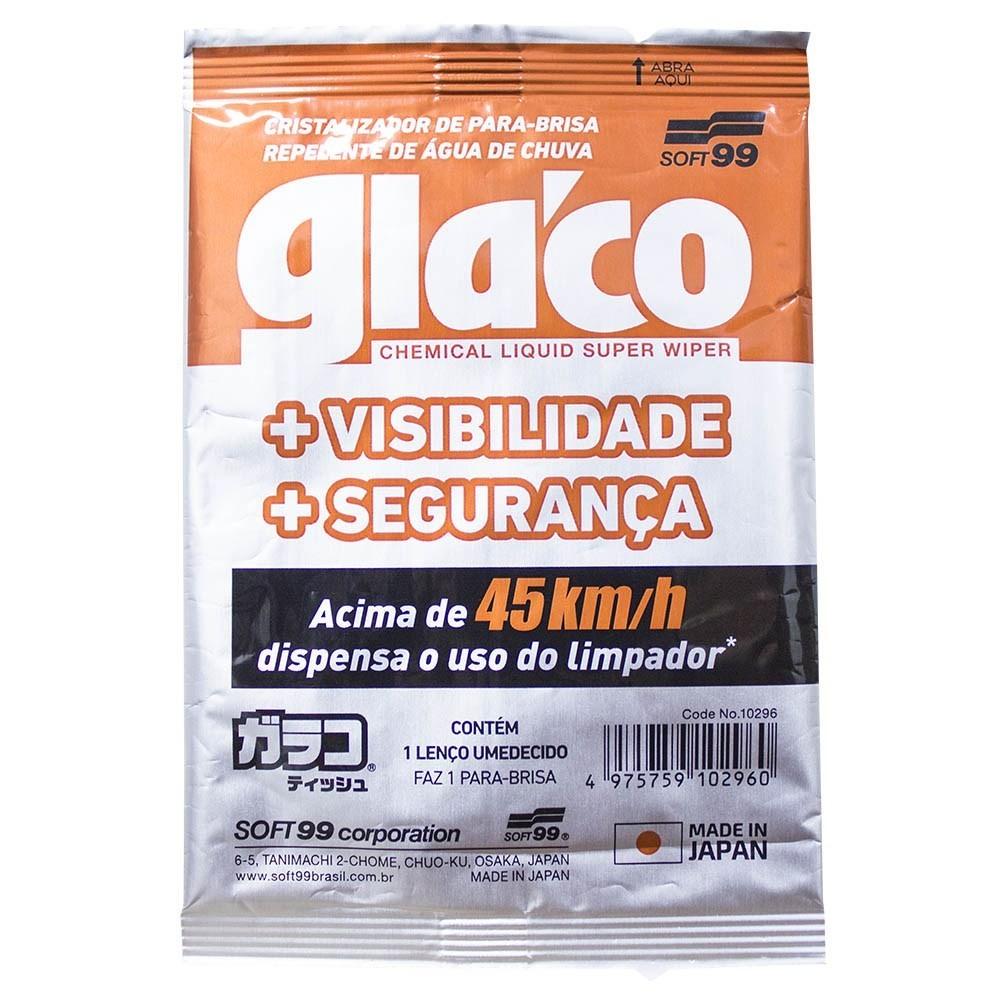 GLACO WIPE ON CRISTALIZADOR DE VIDROS (Lenço Aplicação Única) - SOFT99