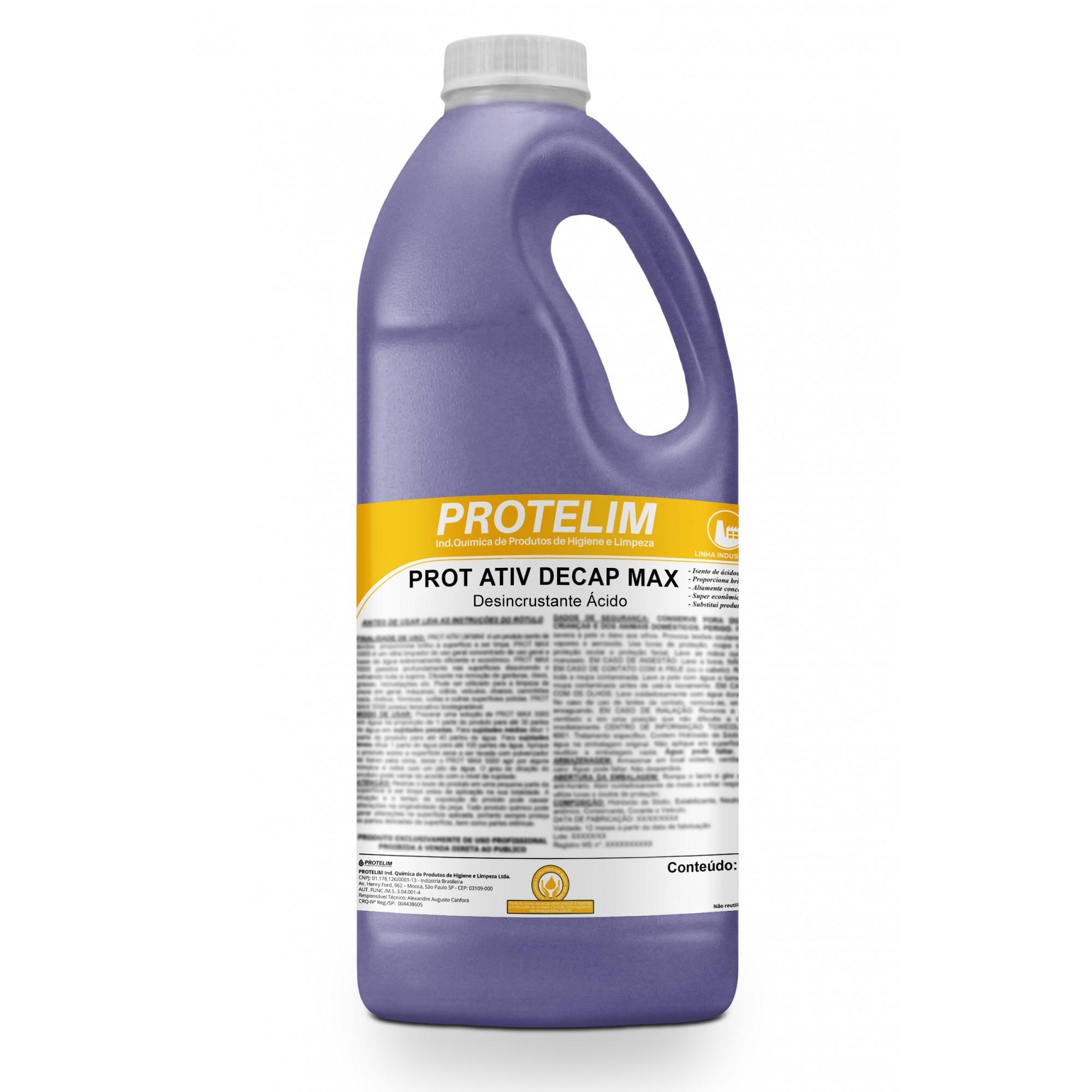 Prot Ativ Decap Max Desincrustante 2L - Protelim
