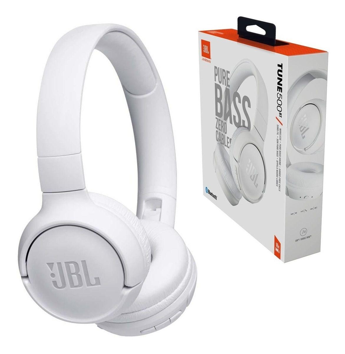 Fone de Ouvido JBL T500BT Pure Bass Bluetooth
