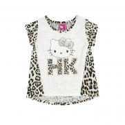 Blusa Infantil Animal Print  Hello Kitty- Sanrio