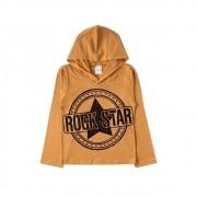 Camiseta Infantil Capuz Rock Star-Ollelê Little