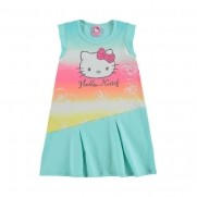 Vestido Infantil Arco Irís Hello Kitty - Marlan