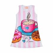 Vestido Infantil Coffee Lovers - Ollelê