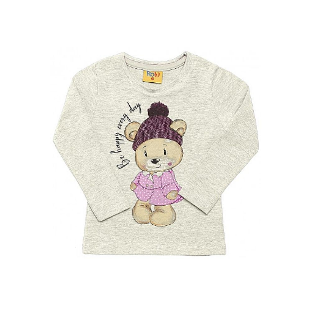 Blusa Infantil Be Happy- Rolú