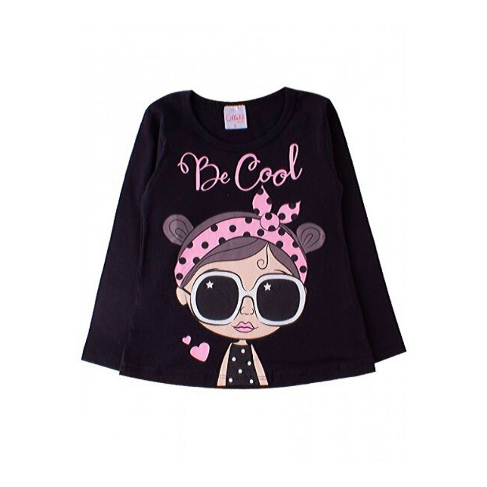 Blusa Infantil Evasê Be Cool- Ollelê Little