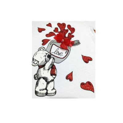 Blusa Infantil Flare-Love Glitter-By GUs