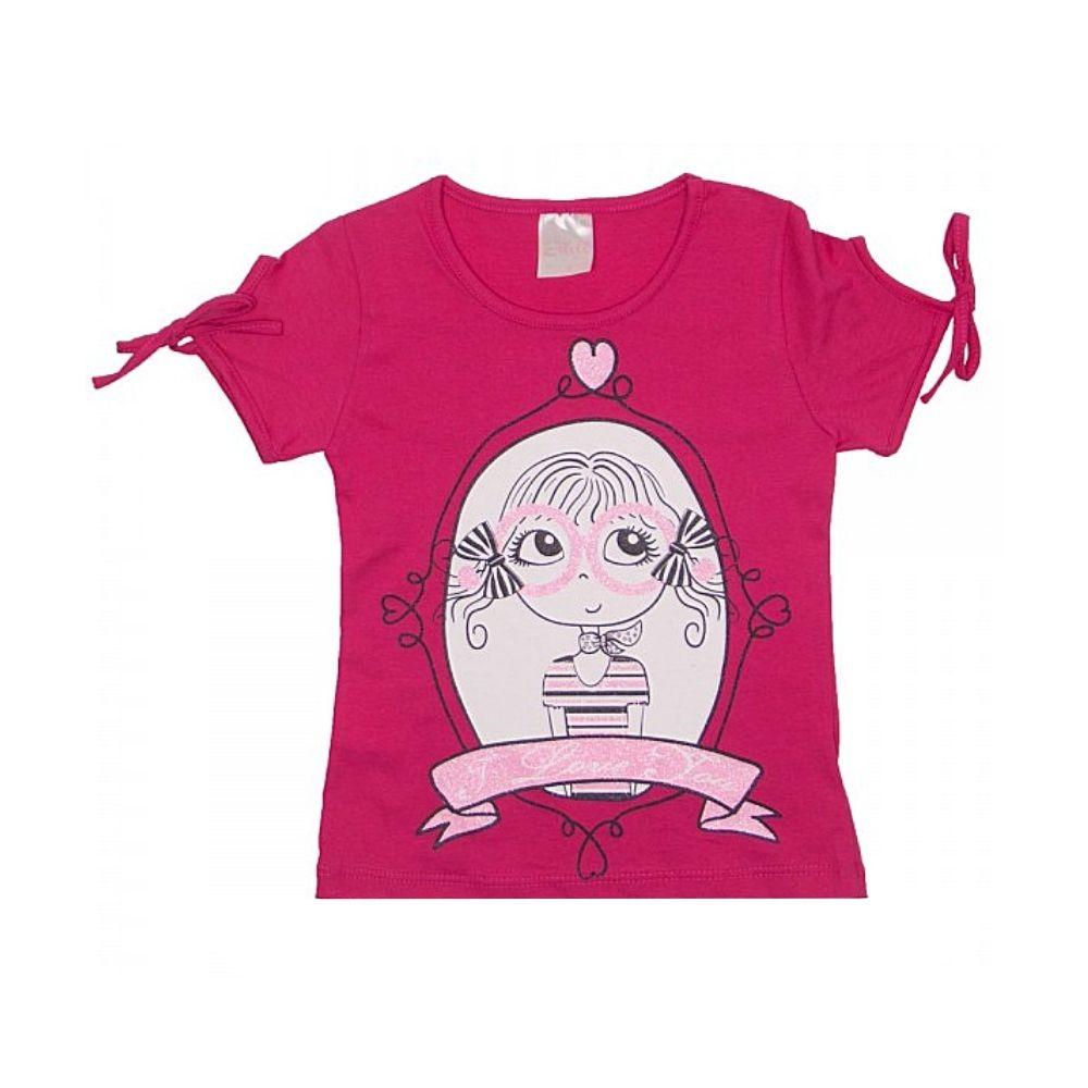 Blusa Infantil Love Girl-Ollelê Litlle