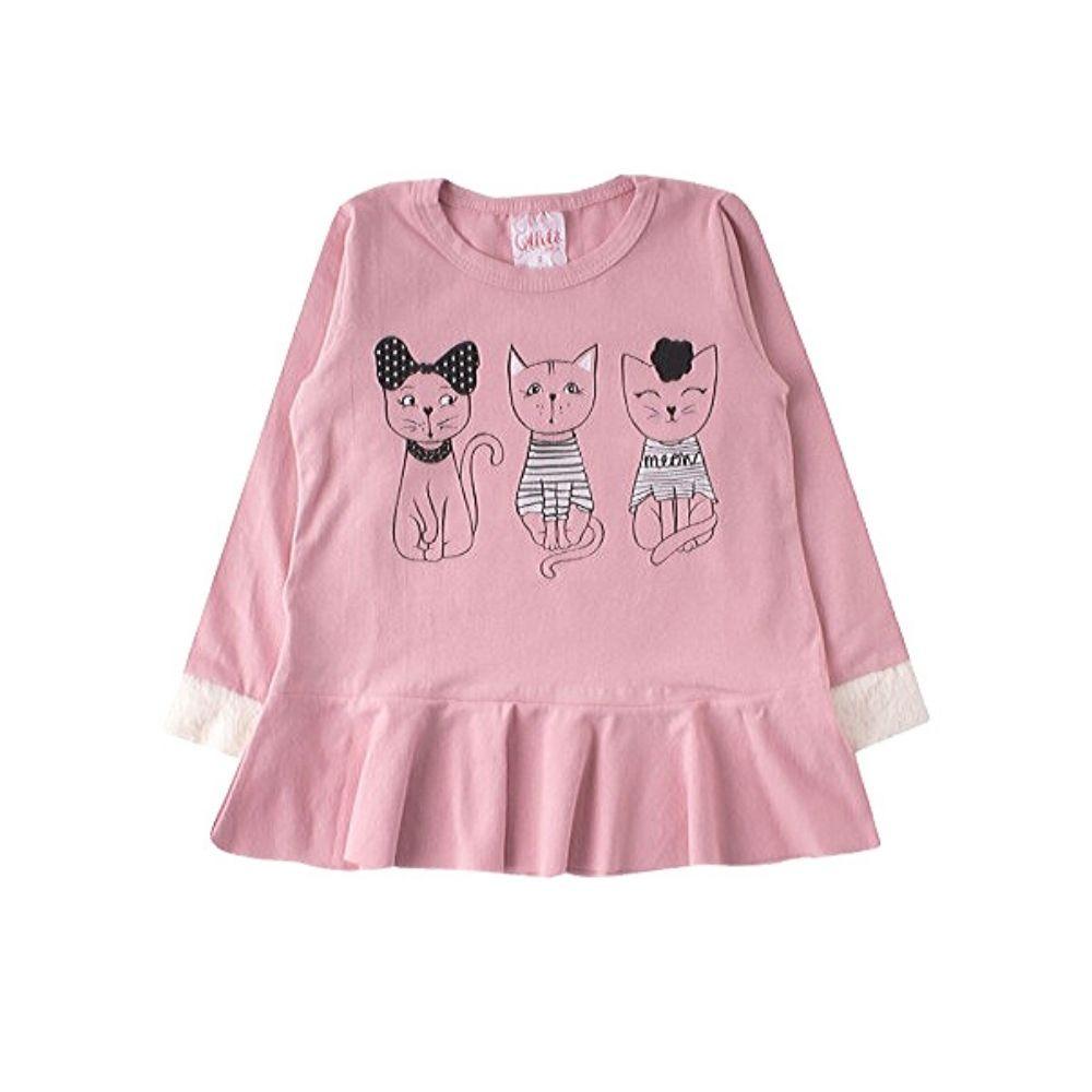 Blusa Infantil Cats- Ollelê Little